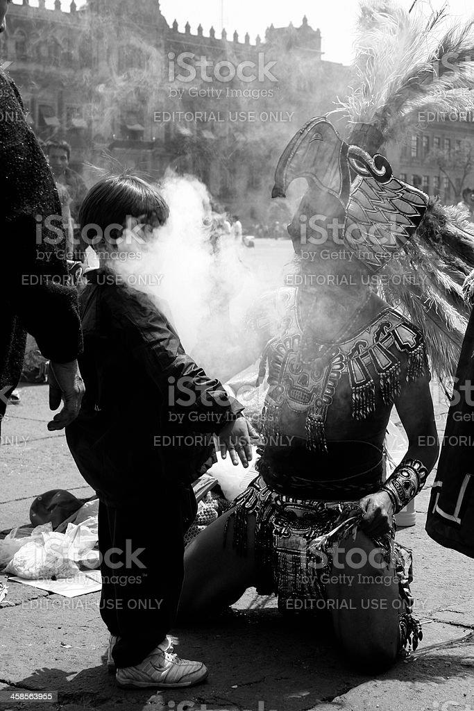 Aztec Shaman royalty-free stock photo