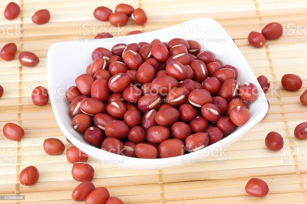 Azuki (Red beans). stock photo