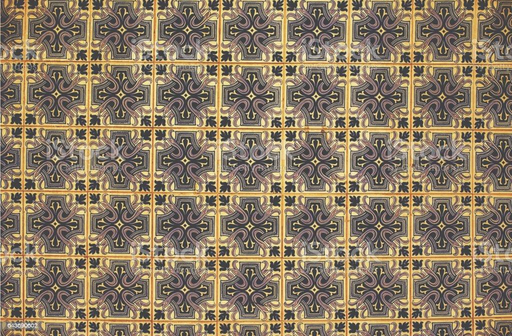 Azulejo background, portuguese or moroccan, tiles, arabic wall design stock photo