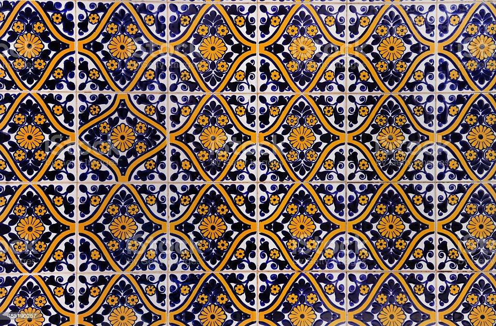 Azulejo (ceramic tile) stock photo