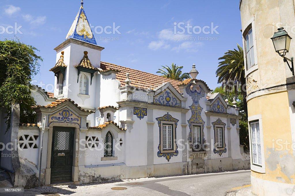 Azulejo Tiled House stock photo