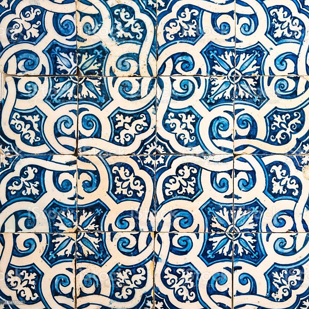 Azulejos, traditional Portuguese tiles stock photo