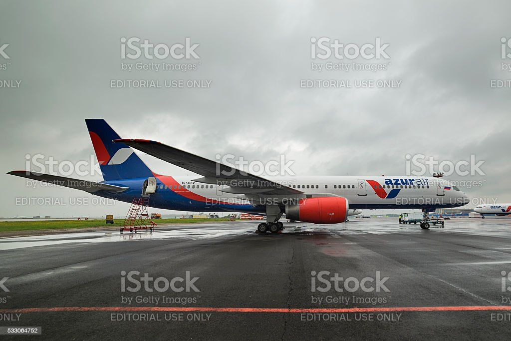 Azur Air Airline Boeing 757-200 stock photo