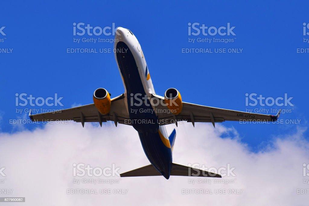 Azur Air Ukraine Boeing 737 stock photo