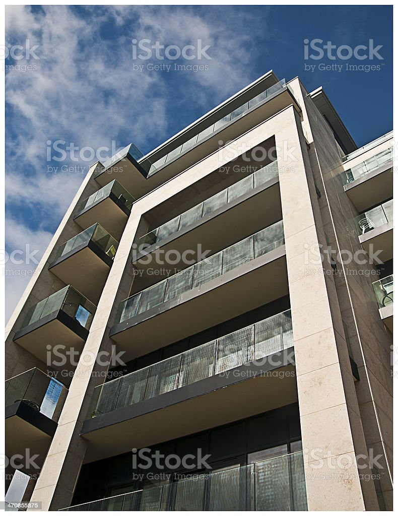 Azure apartments on Plymouth Hoe royalty-free stock photo