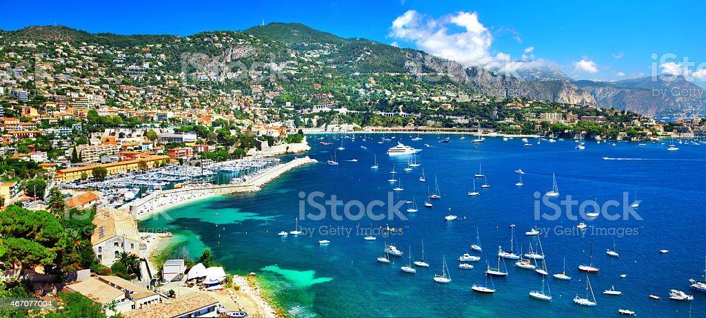 Azure coast of France stock photo
