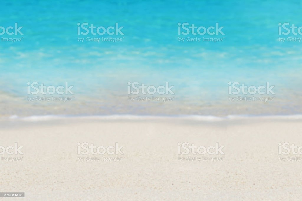 Azure ocean and sand, background stock photo