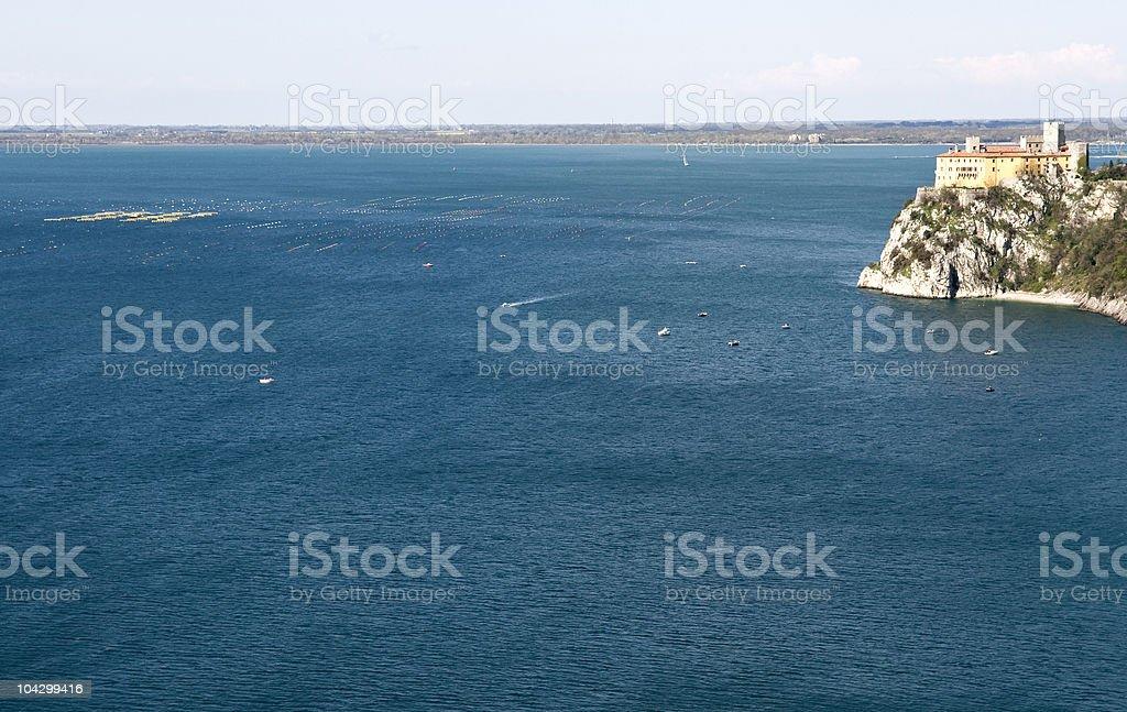 Azure Sea  Duino Castle  Italy royalty-free stock photo