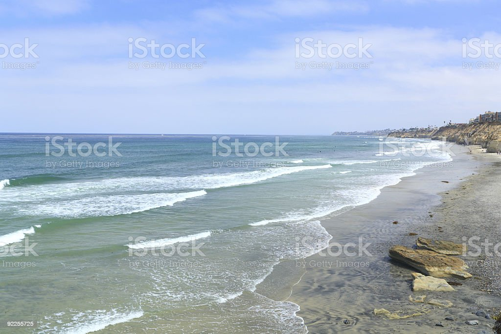 Azure Shore of Solana Beach, CA royalty-free stock photo