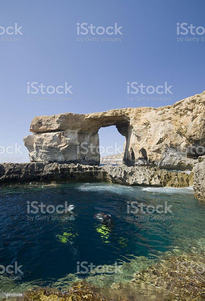 Azure window and Blue hole stock photo