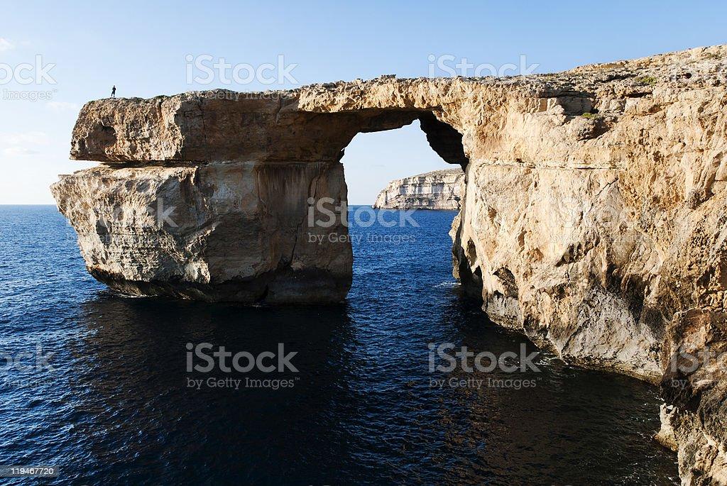 Azure Window - Dwejra, Gozo stock photo