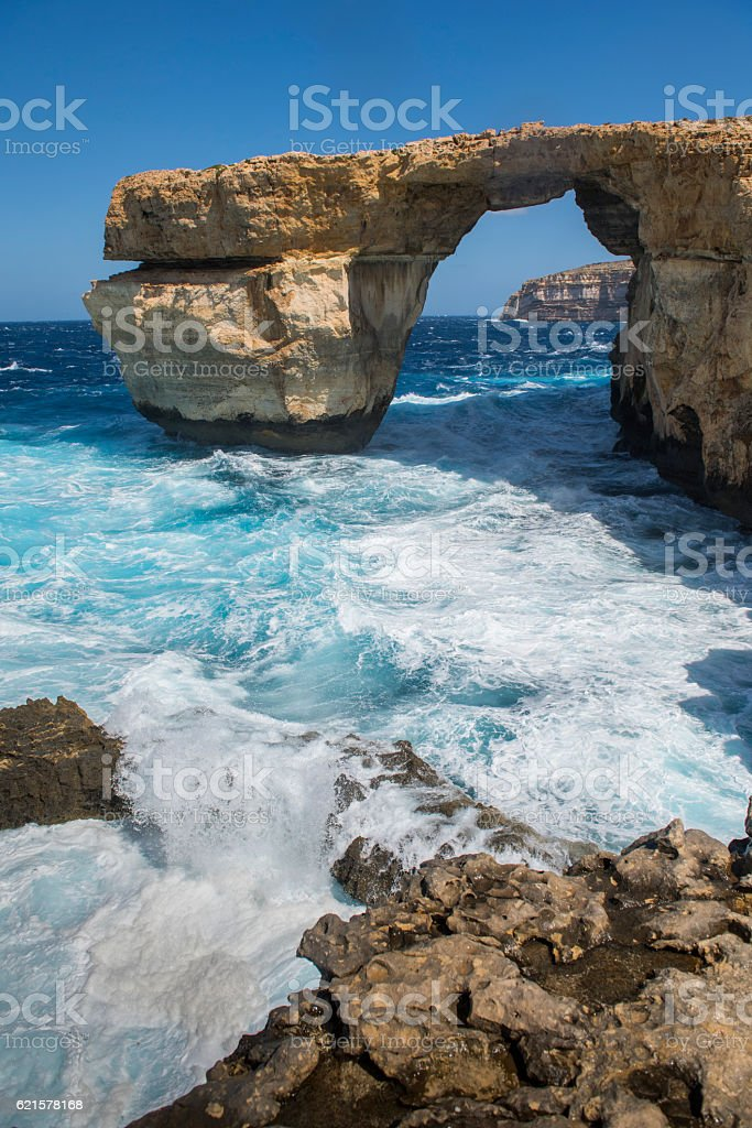 Azure Window in Gozo Malta stock photo