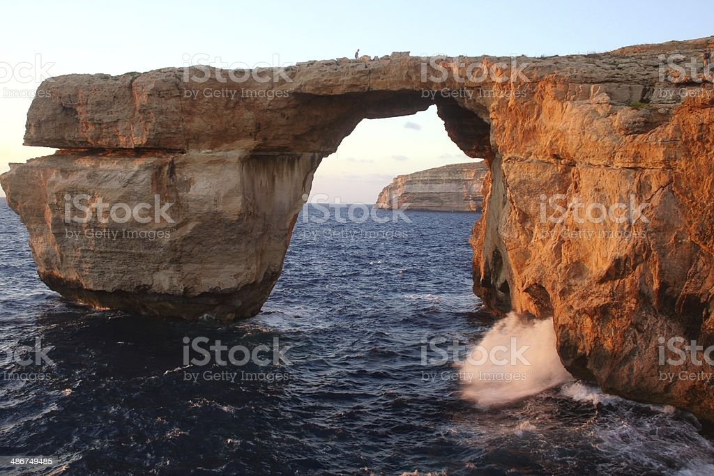 Azure window natural arch Dwejra Gozo Malta royalty-free stock photo