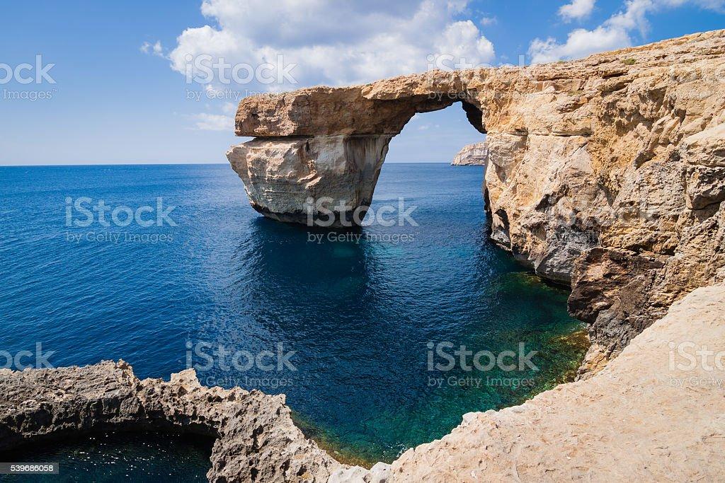 Azure Window on the island Gozo stock photo