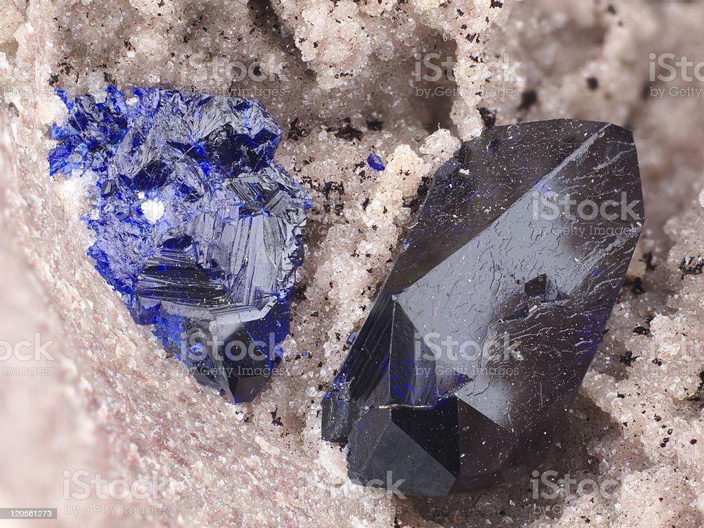 Azurite and Malachite 1 stock photo