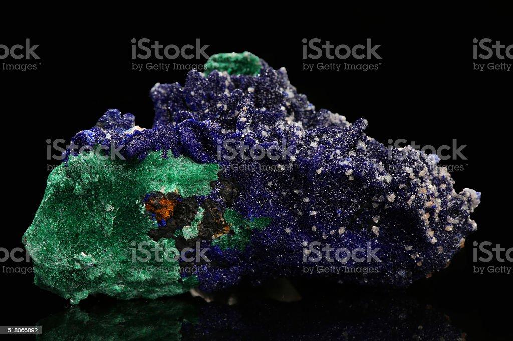 Azurite and Malachite stock photo