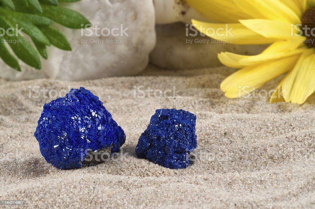 Azurite - half precious stone. guaranteed authentic stock photo