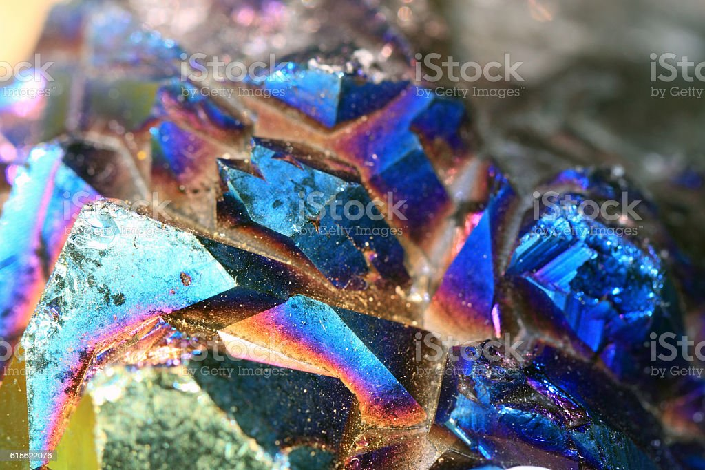 Azurite raw mineral crystal stock photo