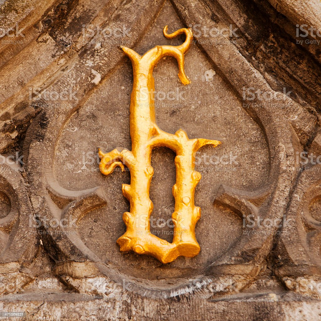 b is for Bruges royalty-free stock photo