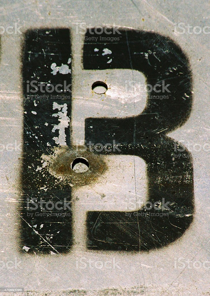 B/13-on steel royalty-free stock photo