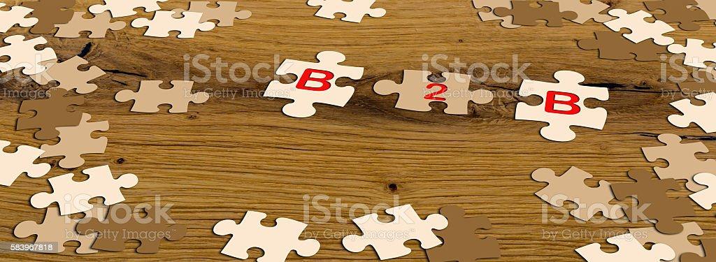 b2b puzzle pieces stock photo