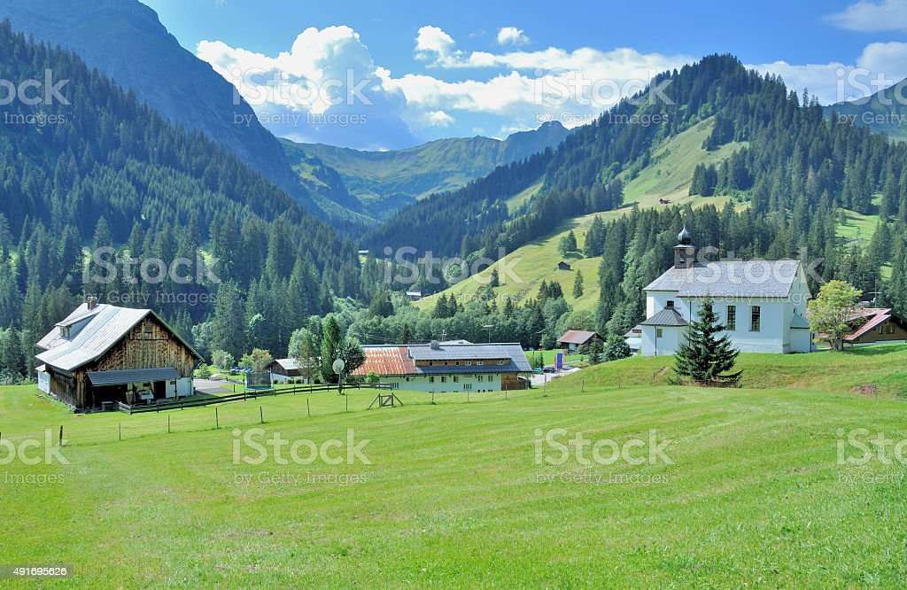 Baad,Kleinwalsertal,Vorarlberg,Alps,Austria stock photo