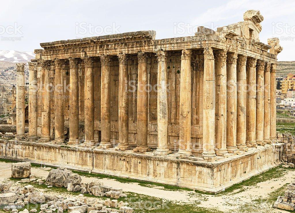 Baalbeck, Lebanon(Temple of Bacchus) royalty-free stock photo