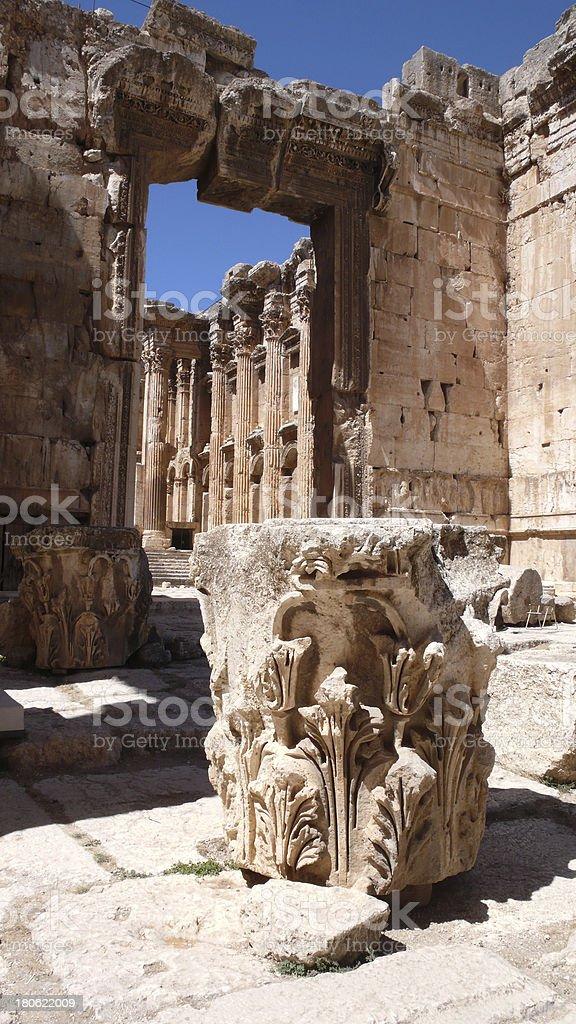 Baalbek ruins. Lebanon stock photo