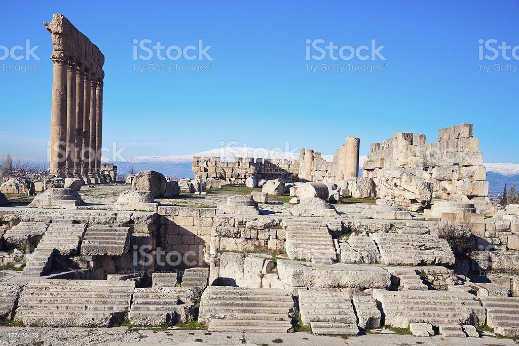 Baalbek ruins stock photo