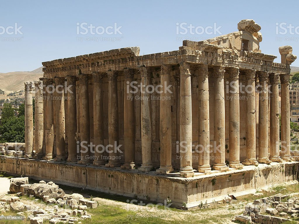 Baalbek - Temple of Bacchus stock photo