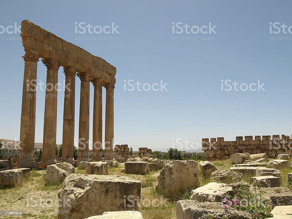 Baalbek  - Temple of Jupiter stock photo