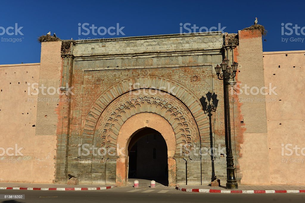 Bab Agnaou, Marrakech, Morocco, Africa. stock photo