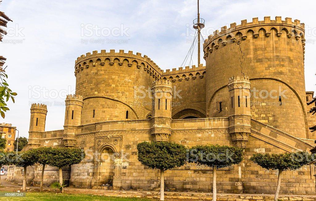 Bab al-Azhab, former main gate of the citadel - Cairo stock photo