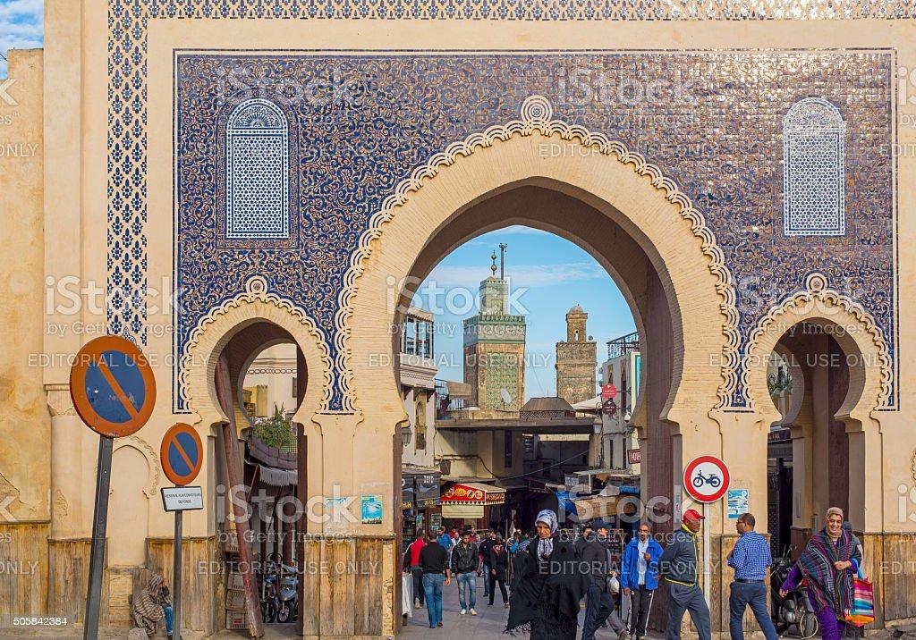 bab bou jeloud medina de fez elbali fez marrocos frica