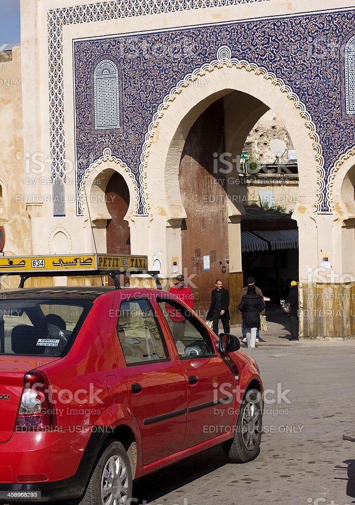 Bab Boujeloud gate, Fez, Morocco royalty-free stock photo