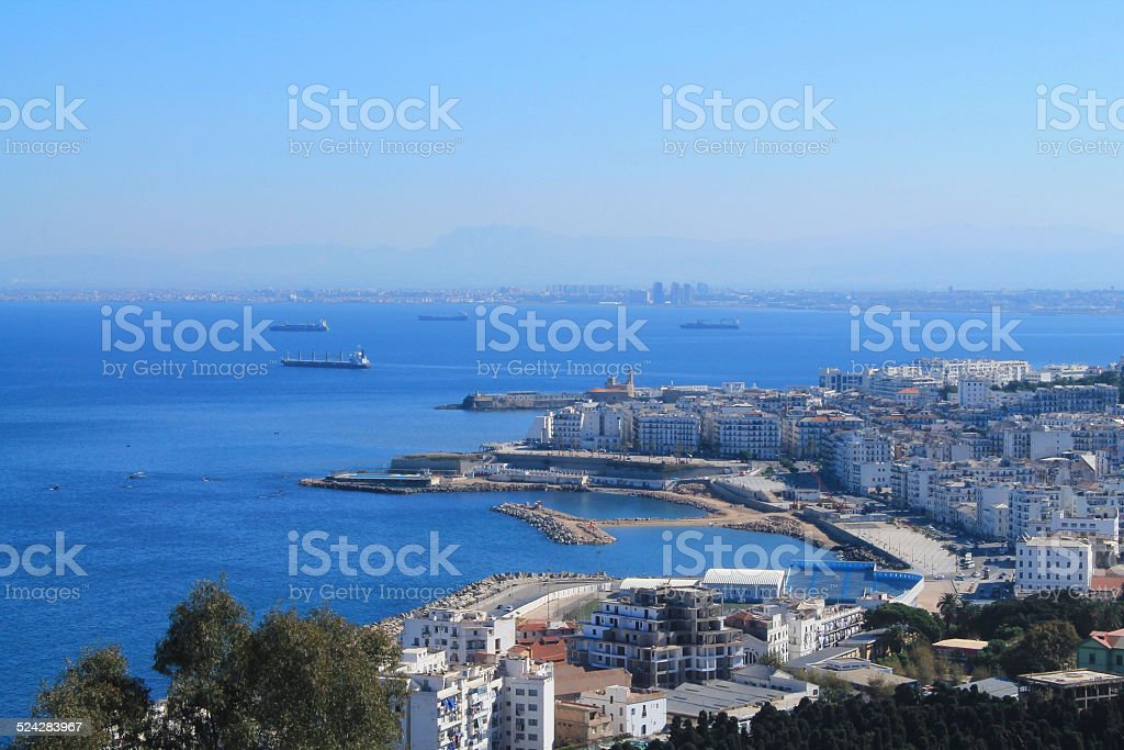 Quartier de Bab El Oued ? Alger, Alg?rie stock photo