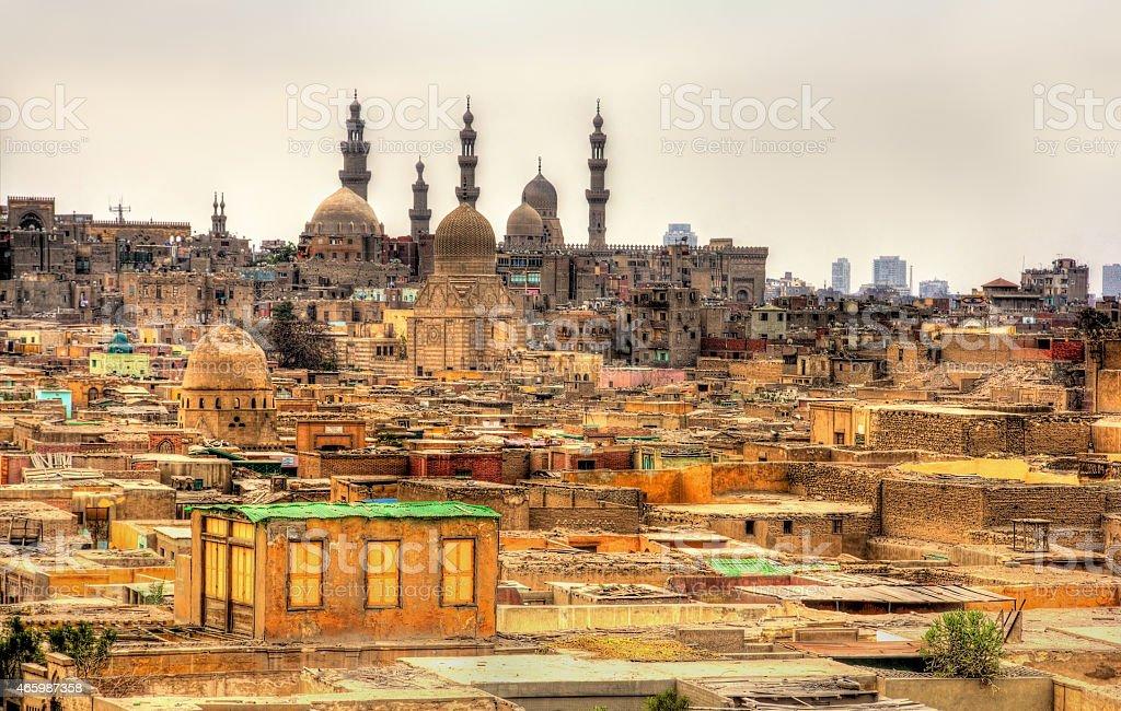 Bab El-Wazir cemetery in Cairo - Egypt stock photo
