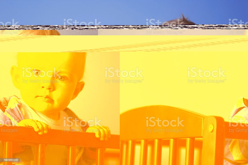 Bab in Crib royalty-free stock photo