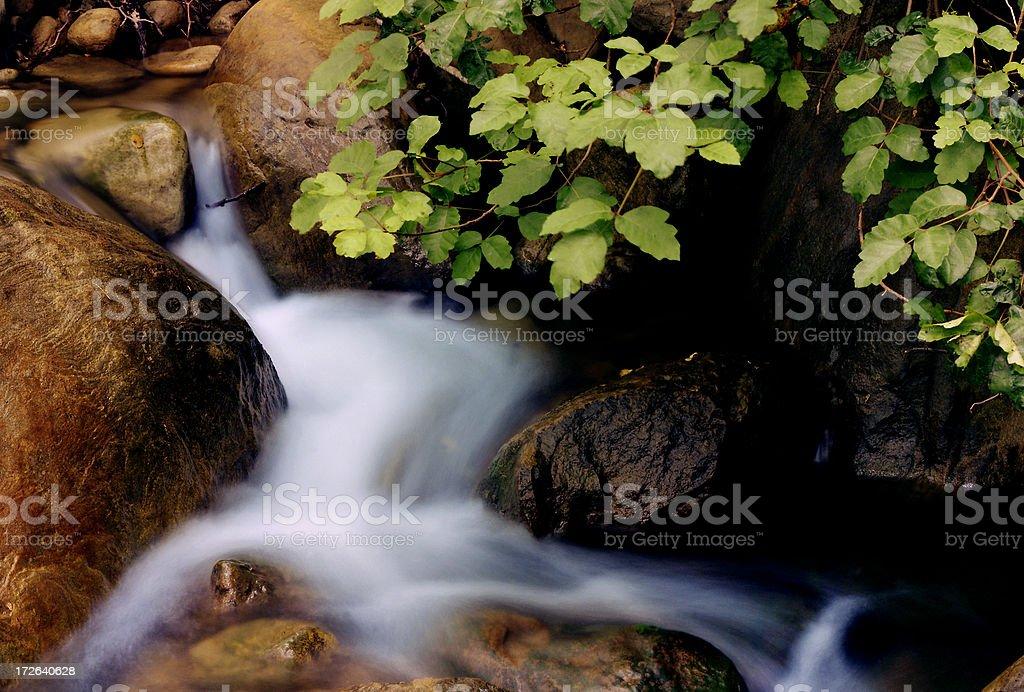 Babbling Brook Waterfall royalty-free stock photo