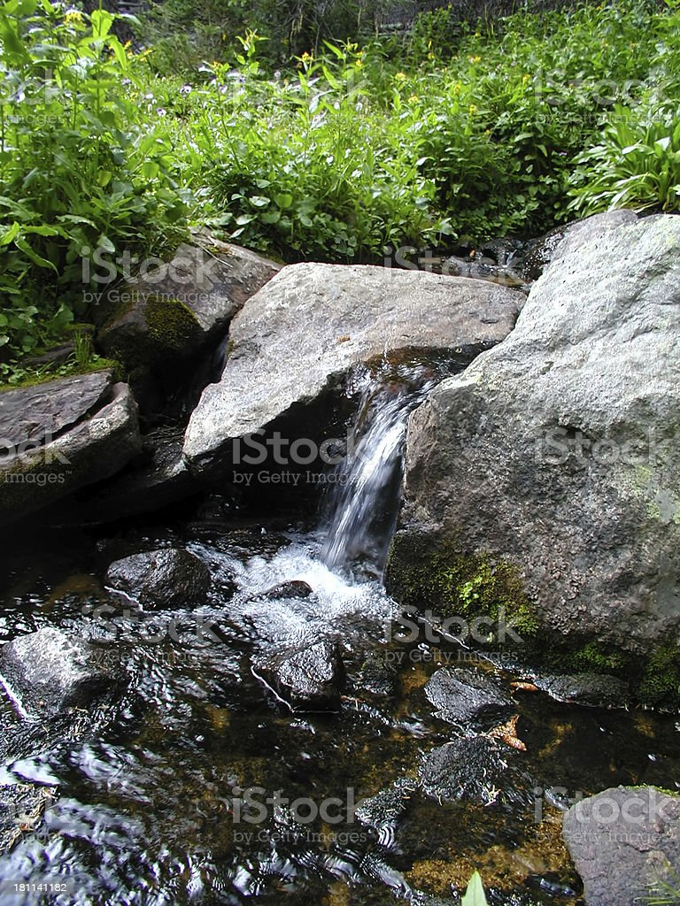 Babbling Mountain Stream stock photo