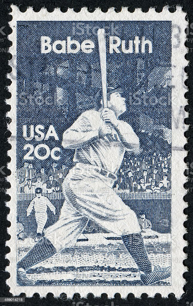 Babe Ruth Stamp stock photo