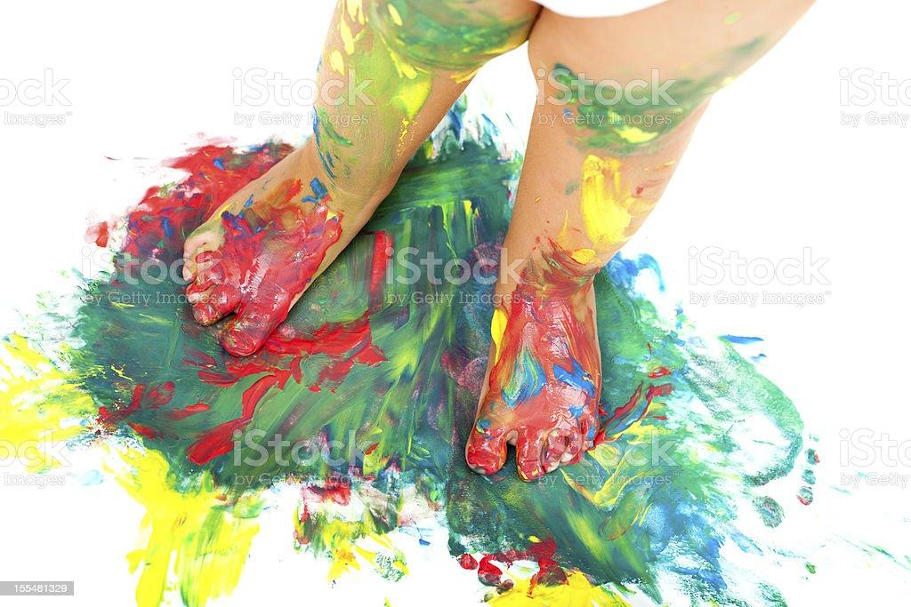 Bébés carrés de mosaïques colorées de peinture. photo libre de droits