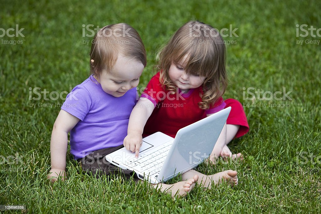 Babies & Information Technology royalty-free stock photo