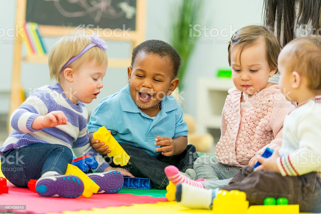 Babies Playing royalty-free stock photo