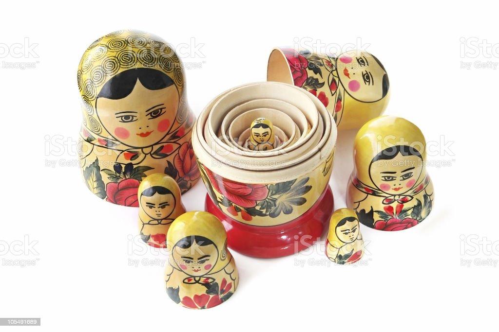 Babushka Dolls royalty-free stock photo