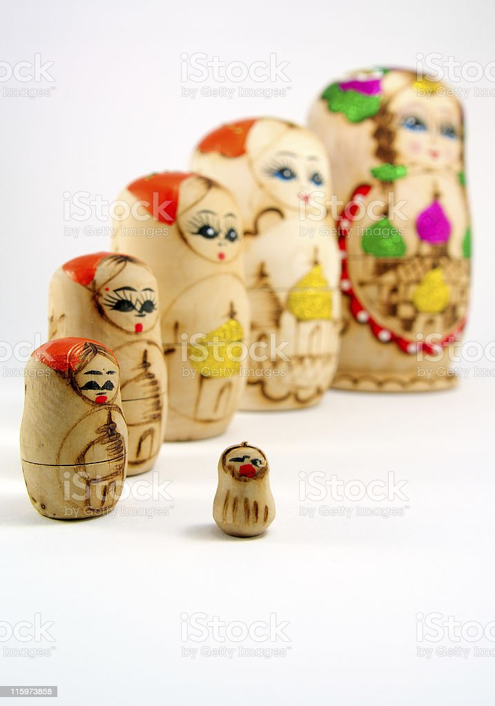 Babushka dolls. royalty-free stock photo