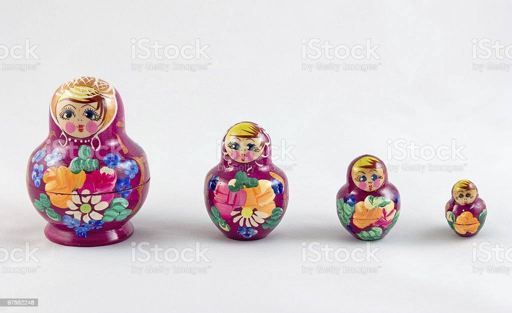 Babushka dolls stock photo
