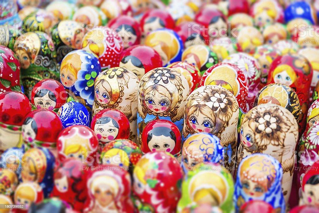 Babushka Matryoshka Russian Nesting Doll royalty-free stock photo