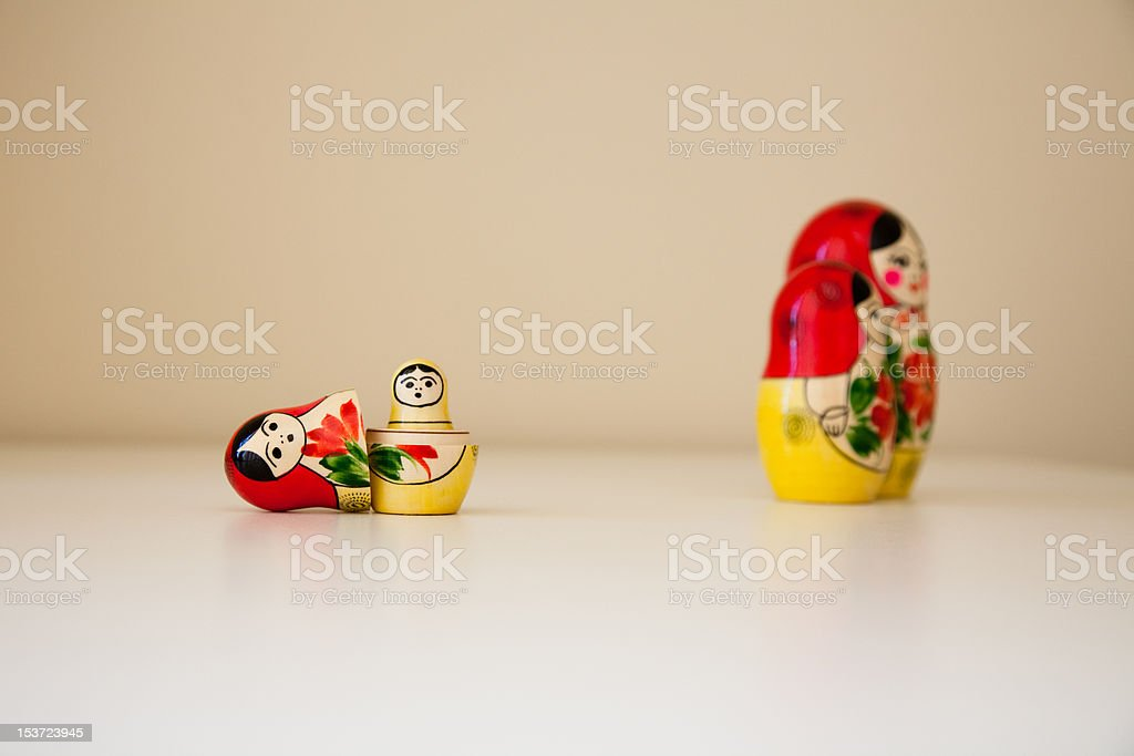 Babushka mother and child alone royalty-free stock photo