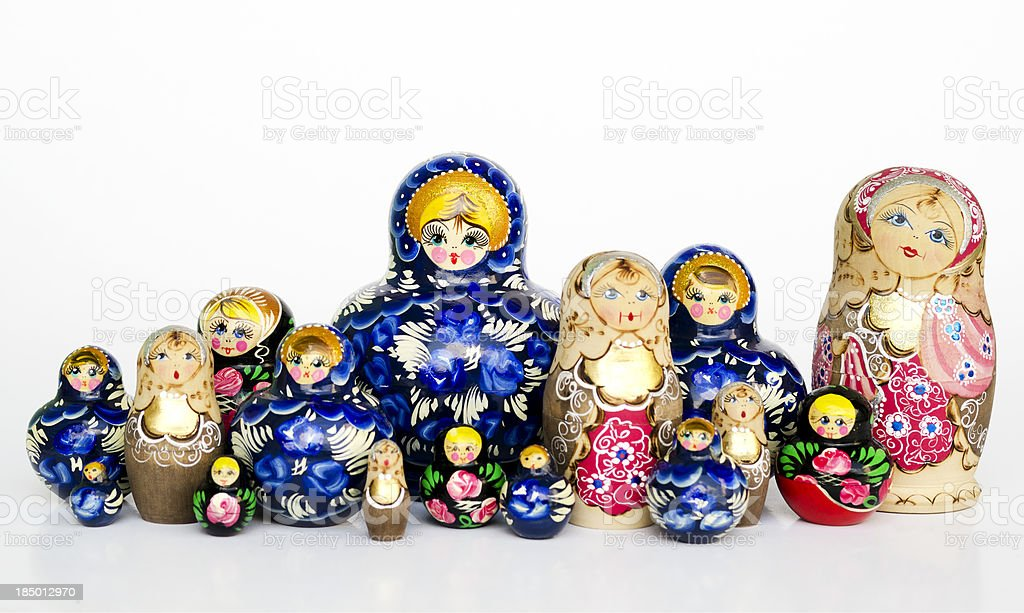 Babushka nesting dolls royalty-free stock photo